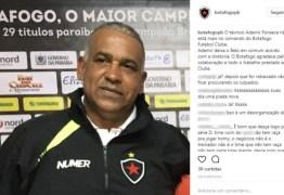 Ademir Fonseca deixa comando do Botafogo-PB