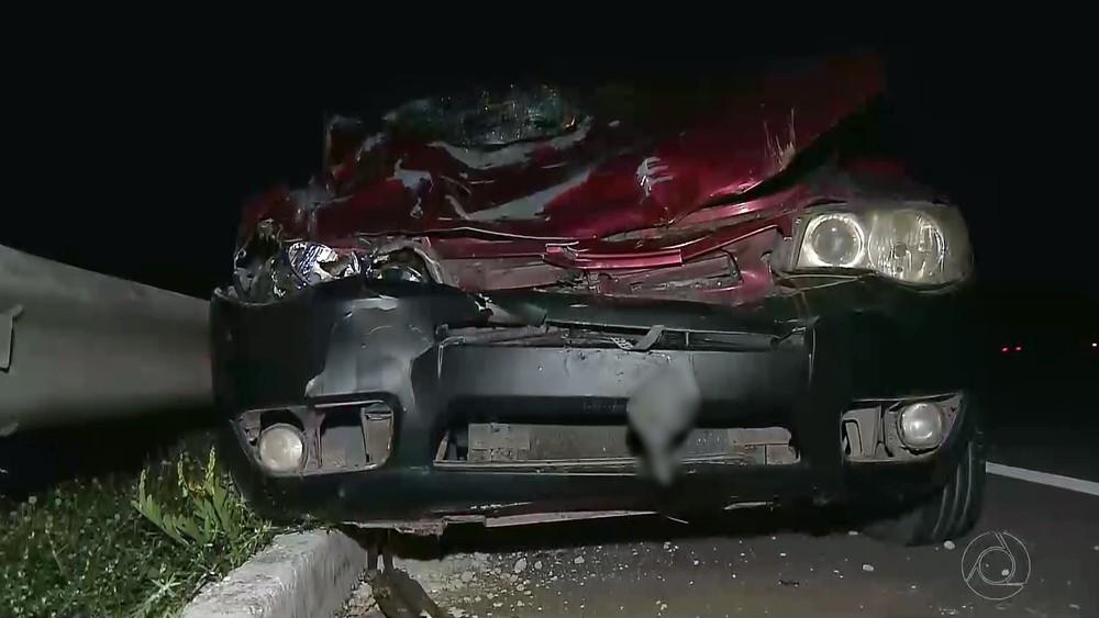 carro destruido atropelamento mamanguape - Mãe reconhece corpo errado e descobre que filha não morreu em acidente na PB -VEJA VÍDEO