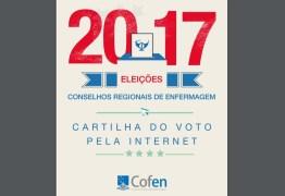 Eleição do Coren PB terá 3 chapas e votação pela internet