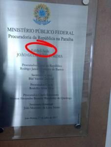 edificio errado mpf pb 227x300 - MPF inaugura prédio com erro de português na Epitácio Pessoa