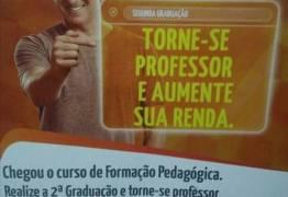 Propaganda que reduz profissão de professor a 'bico' é polêmica nas redes