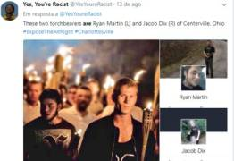 Internautas antirracismo expõem na internet defensores da supremacia branca