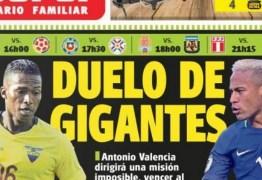 Jornal chama Brasil x Equador de 'duelo de gigantes' e crê em vitória equatoriana