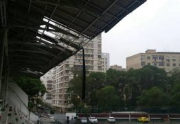 Ventania estraga telhado da sede do Fluminense