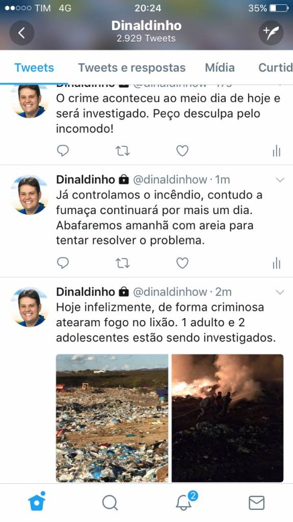 print - PESSOAS PASSAM MAL: Incêndio criminoso em lixão de Patos mobiliza PM e autoridades - VEJA VÍDEO