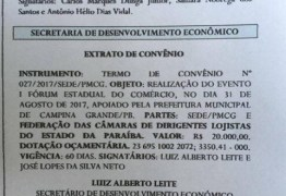 Romero Rodrigues destinou R$ 20 mil para evento com Dória em Campina Grande