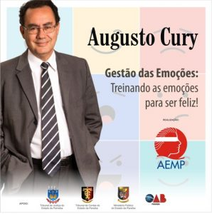 SLAIDE AUGUSTO CURY VERTICAL 298x300 - Centro Cultural do TCE-PB sediará palestra do médico psiquiatra Augusto Cury