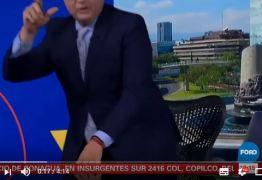 Desesperado, apresentador abandona TV e corre em meio a terremoto no México – VEJA VÍDEO