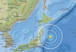 Terremoto é registrado no mar próximo à costa do Japão