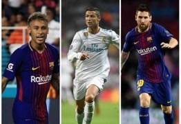 Fifa anuncia nesta segunda o melhor jogador do mundo em 2017