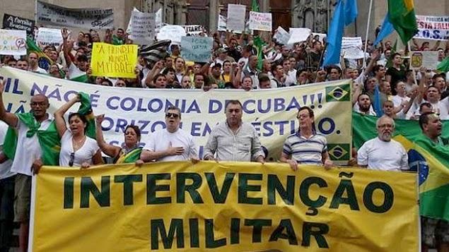 INTERVENÇÃO - Ditadura, não. Intervenção militar, já. Acorda Brasil! - Por Rui Galdino