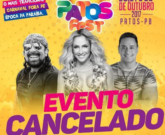 flop - FLOPOU: Carnaval fora de época 'Patos Fest', na PB, é cancelado