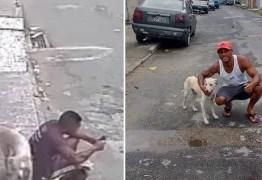 Veja vídeo: Homem adota cachorro que urinou nas suas costas