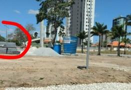 Prefeitura de Campina faz obras sem placas informativas, para encobrir empresa prestadora do primo do prefeito