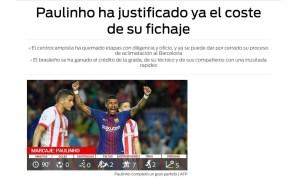 paulinho sport 300x179 - Paulinho se torna referência no Barça e é elogiado por torcedores