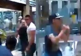 VEJA VÍDEO: Homens brigam e saem na porrada dentro de shopping