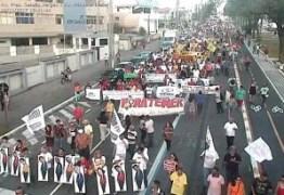 Protesto bloqueia trânsito no Centro de JP