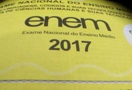 Mais de 140 mil candidatos devem fazer a prova do Enem hoje na Paraíba