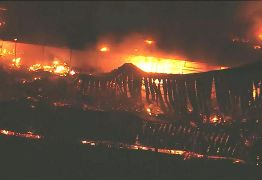 Estúdios da Globo sofrem incêndio de grandes proporções