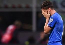 Itália perde para a Suécia e fica de fora da copa do mundo após 60 anos