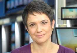 Sandra Annenberg se declara a Jô Soares durante jornal: 'Eu te amo'