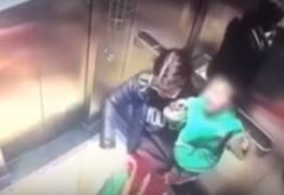 VEJA VÍDEO: Babá é flagrada dando socos em criança dentro de elevador