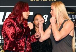 Estrelas do último UFC do ano, Cyborg e Holly Holm se encaram pela primeira vez