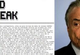 Hackers invadem site da Previdência Social e ameaçam Temer