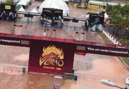 FEST MOLHADO: Arena Fest Verão amanhece alagada após noite de chuva