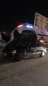 acidente avenida beira rio 169x300 - Após causar grave acidente na avenida beira-rio motorista é acusado de dirigir sob efeito de álcool