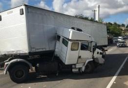 Após desviar de cavalo, caminhoneiro causa acidente na BR 101