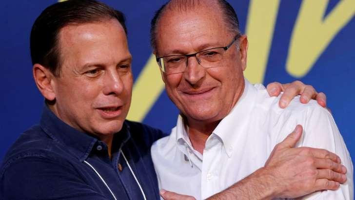 doria e alckmin - João Doria vence prévia do PSDB no 1º turno e disputará governo de SP