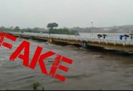 FAKE NEWS: Vídeo que mostra suposta cheia do Rio Piancó é de outro estado