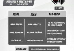 EXPECTATIVA: Botafogo inicia venda de ingressos para jogo contra o Atlético-MG