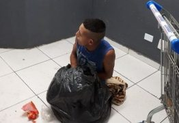CRIATIVIDADE: Preso tenta fugir de delegacia escondido em saco de lixo