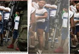 Foto de soldados armados revistando mochilas de crianças no RJ repercute na web