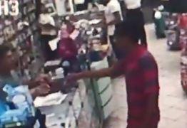 VEJA O VÍDEO: Câmeras registram assalto à farmácia em João Pessoa