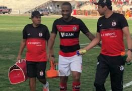 Lesão é mais grave do que o esperado e Rodrigo Silva para por 90 dias