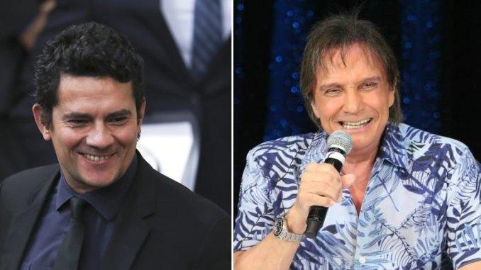 robertoxmoro - VEJA VÍDEO: Roberto Carlos 'rasga' elogios a Sérgio Moro e plateia vai ao delírio