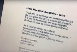 VEJA VÍDEO: Câmara de Campina publica hino nacional no lugar do balanço