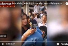 Jovem segura abusador pelo colarinho no meio da rua e chama polícia -VEJA VÍDEO