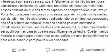 POSTAGEM CEL3 - Homenagem a Marielle de um coronel da PM do Rio: Os sinos dobram por ti