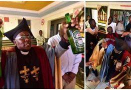 Igreja batiza fiéis com bebidas alcoólicas e consumo é liberado nas celebrações -VEJA VÍDEO