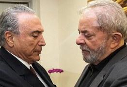Temer e Lula, tudo a ver -Um torce pelo outro.