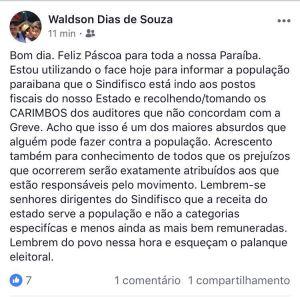 """waldson 300x297 - GREVE DO FISCO: Secretário acusa o Sindfisco: """"Lembrem do povo e esqueçam do palanque eleitoral"""""""