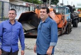 Santa Rita inicia novas obras de pavimentação