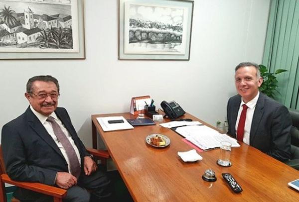 WhatsApp Image 2018 04 04 at 12.14.54 PM - Deputado Aguinaldo Ribeiro recebe senador José Maranhão e Romero Rodrigues, em Brasília