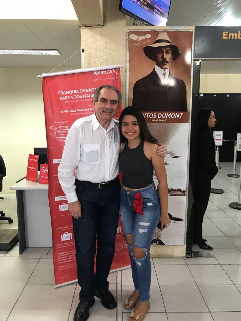 WhatsApp Image 2018 04 09 at 16.33.36 - Senador Raimundo Lira recebe Eduarda Brasil em Juazeiro do Norte e segue em carreata para São José de Piranhas
