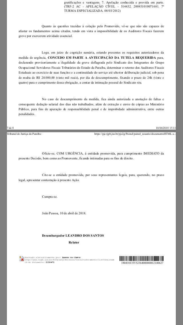 a955b85b 2c15 409e 89c9 3f6647fd95cc - 'GREVE ILEGAL': Justiça manda auditores fiscais voltarem ao trabalho