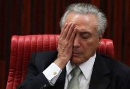 Presidente Michel Temer é reprovado por 70% da população